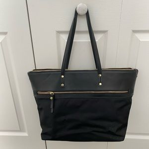 Target Black Tote Laptop Bag with Gold Zipper